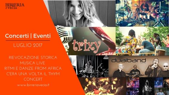 Birreria Piovene: Concerti Luglio 2017